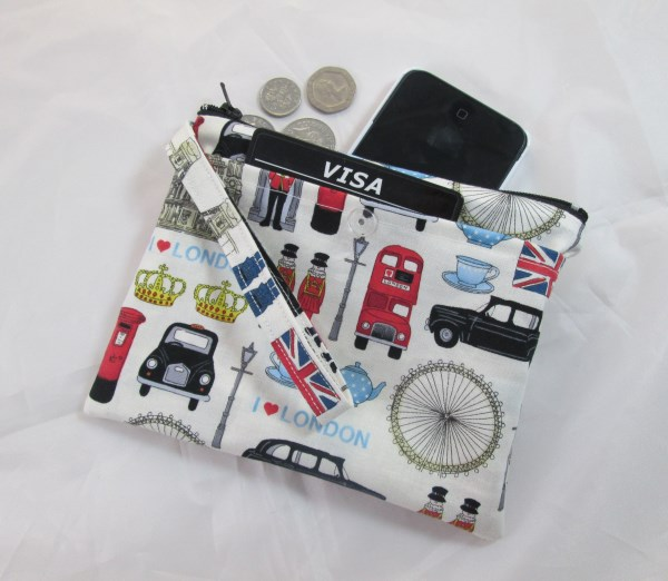 Colourful London Icons Fabric Party Purse - Free P&P