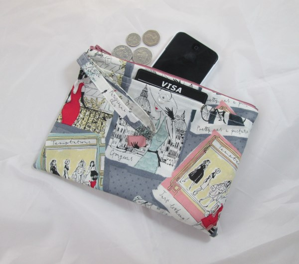Vintage Paris Chic Fabric Party Purse - Free P&P