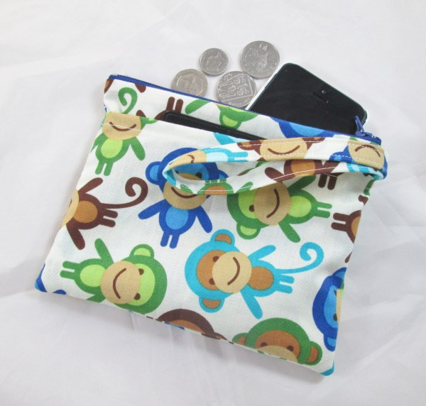 Funky Monkies Fabric Party Purse - Free P&P