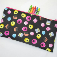 Liquorice Allsorts Fabric Pencil Case - Free UK p&p