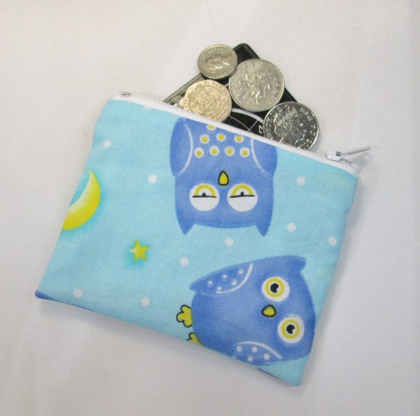 Night Owls Fabric Coin Purse - Free P&P