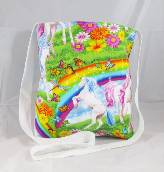 Unicorns and Rainbows Fabric Tote Bag - Free UK P&P