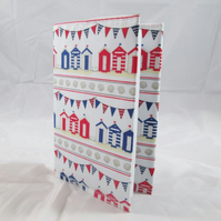 Beach Huts Fabric Covered A6 2018 Hardback Diary - Free UK P&P