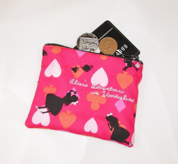 Alice Fabric Coin Purse - Free P&P