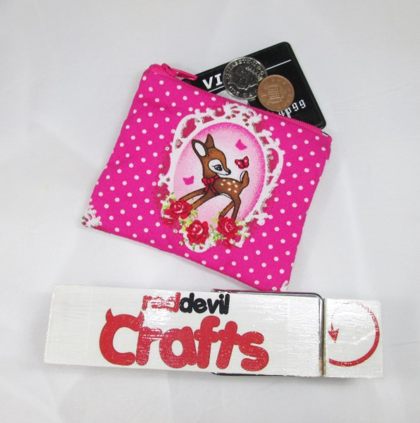 Bambi Fabric Coin Purse - Free P&P