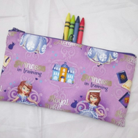 Princess Fabric Pencil Case - Free UK p&p