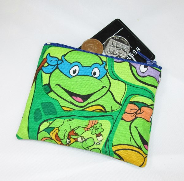 Ninja Turtles Fabric Coin Purse - Free P&P