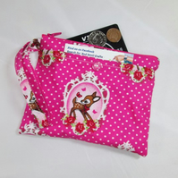 Cute Deer Fabric Party Purse - Free P&P