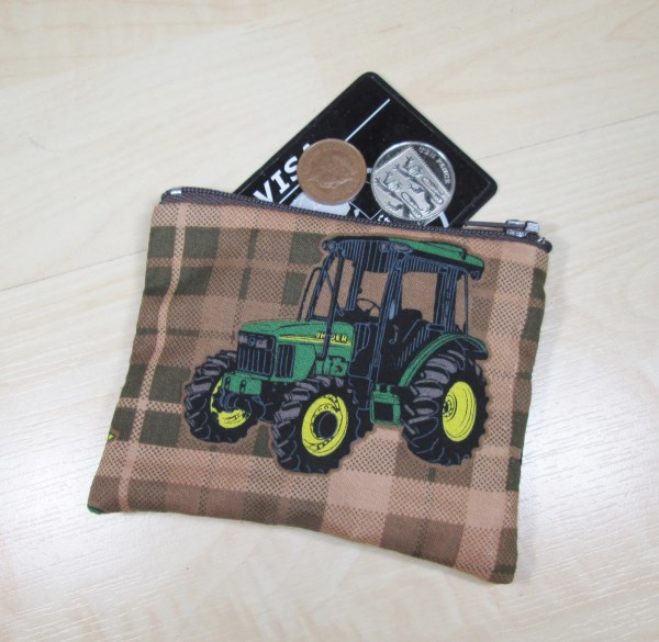 Tractor Fabric Coin Purse - Free P&P