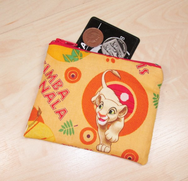 Lion King Fabric Coin Purse - Free P&P