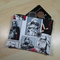 Stormtrooper Fabric Coin Purse - Free P&P