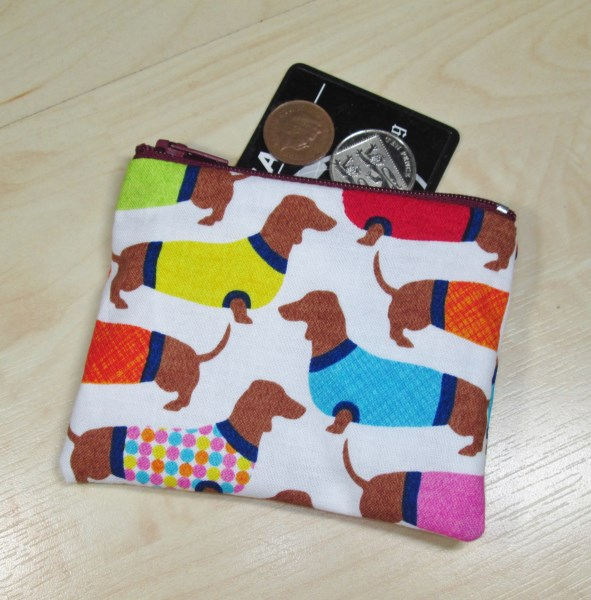 Sausage Dogs Fabric Coin Purse - Free P&P