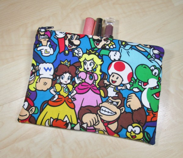 Video Game Fabric Make Up Bag or Pencil Case - Free P&P