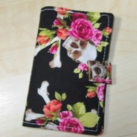 Skulls & Roses Fabric Card Holder - Free UK P&P