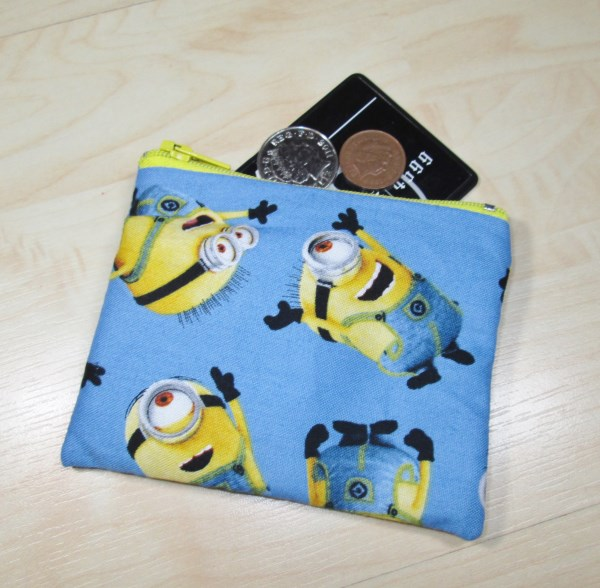 Minions Fabric Coin Purse - Free P&P