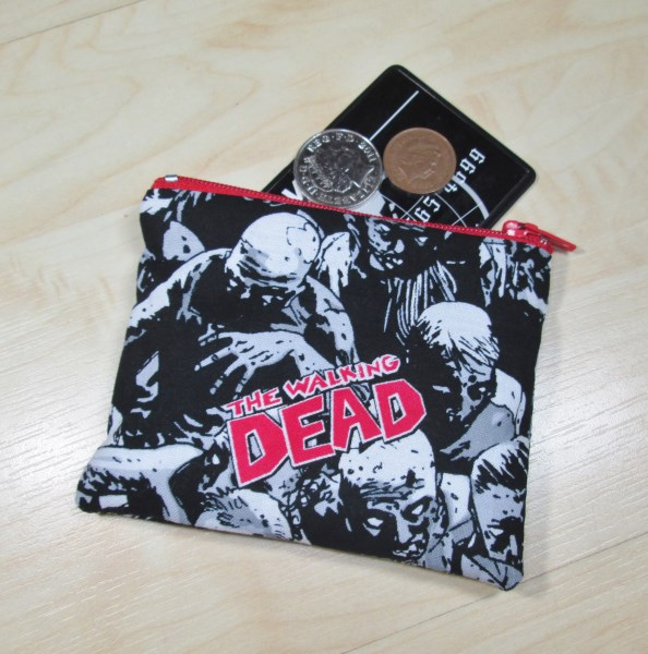 Walking Dead Fabric Coin Purse - Free P&P