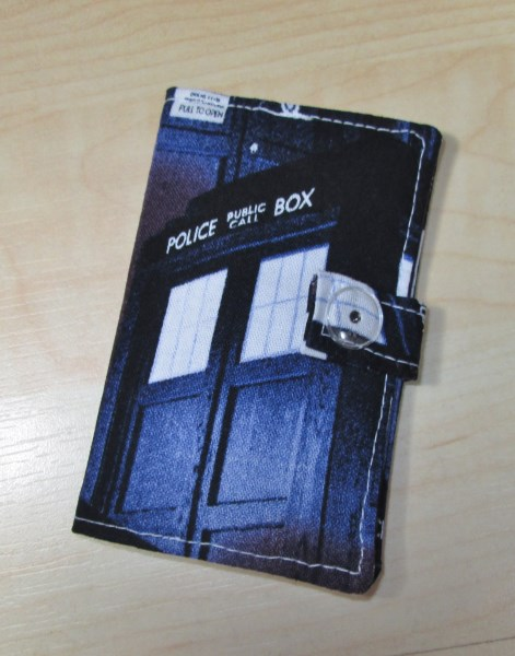 Tardis Fabric Card Holder - Free UK P&P