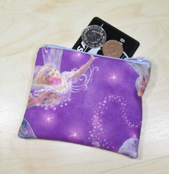 Fairies Fabric Coin Purse - Free P&P
