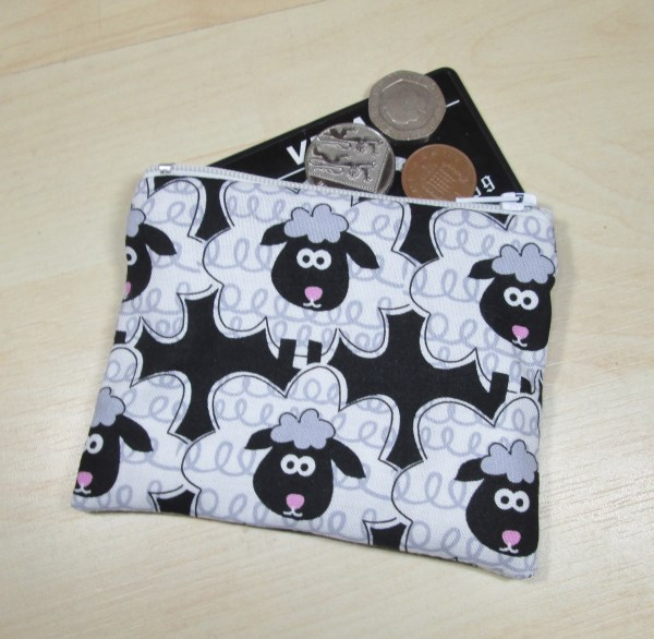 Cute Sheep Fabric Coin Purse - Free P&P