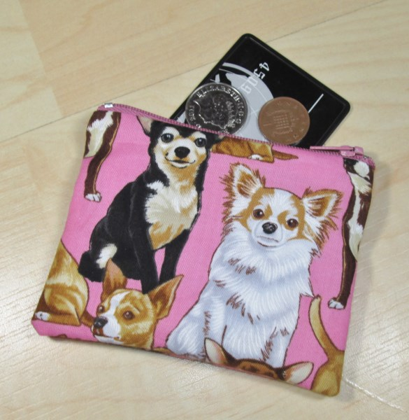 Chihuahua Fabric Coin Purse - Free P&P