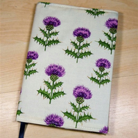 Thistles Fabric Covered A6 2017 Hardback Diary - Free UK P&P
