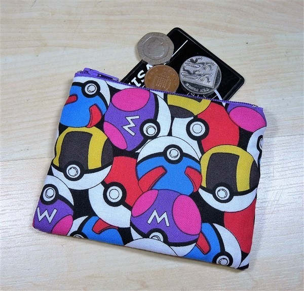 Poke Balls Fabric Coin Purse - Free P&P