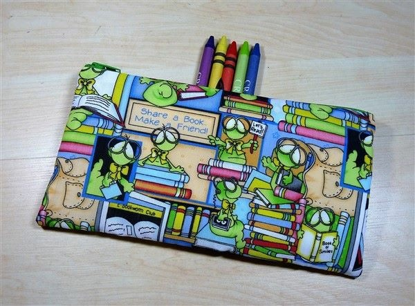 Bookworms Fabric Pencil Case - Free UK p&p
