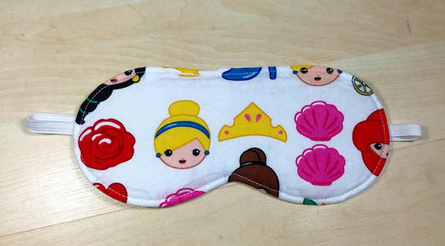 Cartoon Princess Fabric Eye Mask - Free P&P