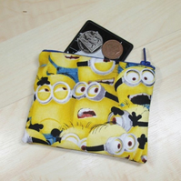 Crowded Minions Fabric Coin Purse - Free P&P