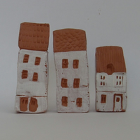 Miniature Terracotta Town Houses