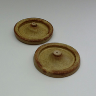 Rustic Stoneware Incense Holders