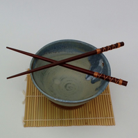Seascape Handmade Rice Bowl