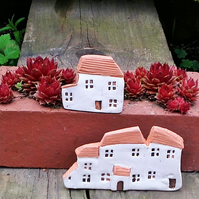 Miniature Terracotta Clay Cottages