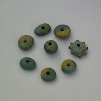 8Large Ceramic Garden Beads (selection 5)