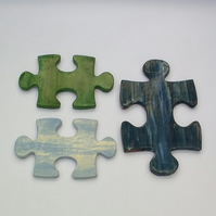 Last Few Pieces of the Jigsaw Trivet Trio