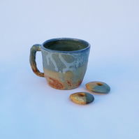 Hand Made Ceramic Seascape Coffee Mug