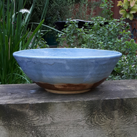 Large Handmade Ceramic Seascape Serving Bowl
