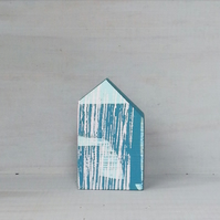 Miniature Wooden House, Little Painted House, House Ornament, Housewarming Gift