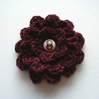 Russian Doll Maroon Corsage