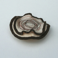 Swirl and Squiggle Brooch