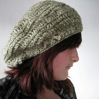 Floppy crocheted beret