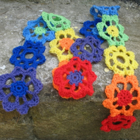 Rainbow Flower Scarf