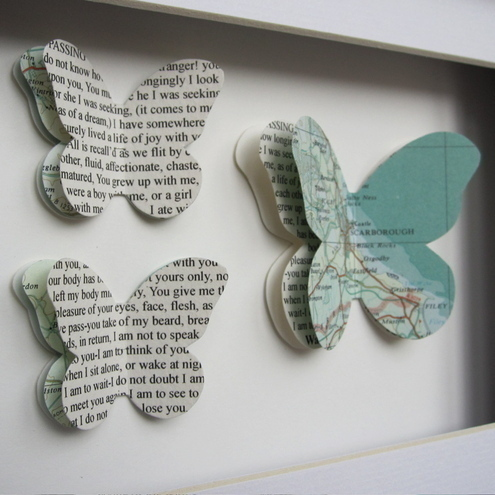 Where we met - Butterfly framed art