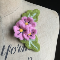 Needle Felted Flower Floral Posy Brooch Pin Badge Corsage Wedding Bridesmaid