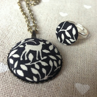 Forest Deer Necklace and Ring