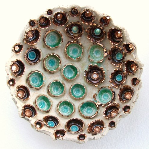 Sculptural Dish - Ceramic and Glass - Ocean Craters