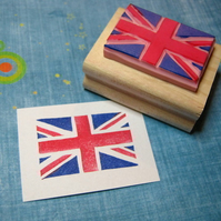 Union Jack - Hand carved rubber stamp
