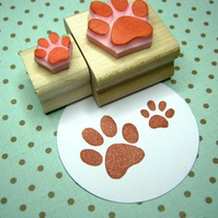 Paw Prints - Hand Carved Rubber Stamps