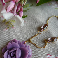 French Lilac Rose Necklace
