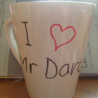 I love (heart) Mr Darcy Mug